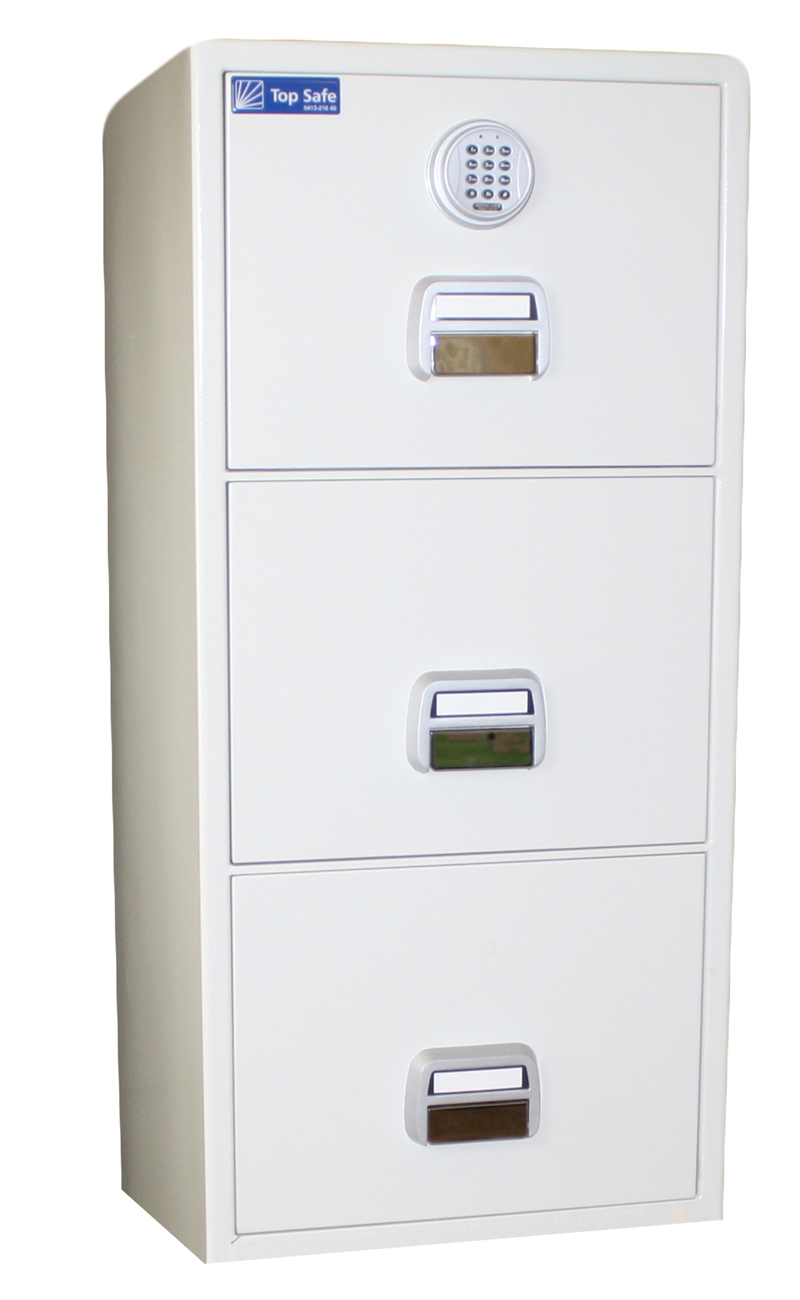 Archive (Suspension file) cabinet with three drawers, and 90 min fire protection for paper