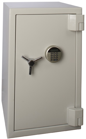 Anti-burglar safe with code lock & strong fire protection (120 min)