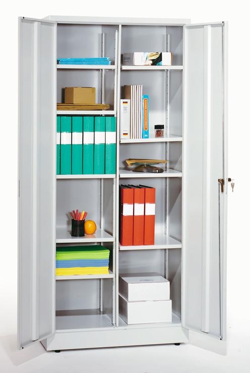 Office Cabinet Metal Storage Cupboard Wardrobe Shelves Lockable Doors Multi size